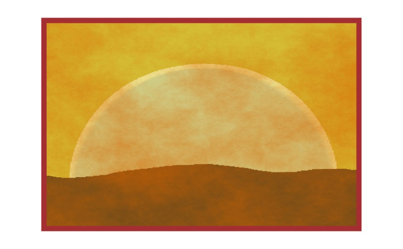Illustration: hazy atmosphere veiling the sun