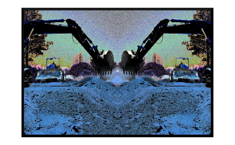 Illustration: heavy equipment digging trench