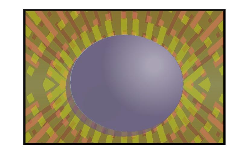 Illustration: egg like a pupil in an eye-shaped nest