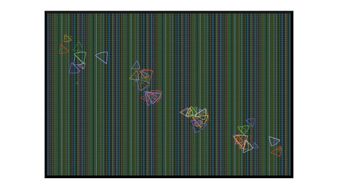 Illustration: butterfly movement in grass
