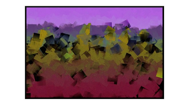 Illustration: glowing coals against a lilac sky