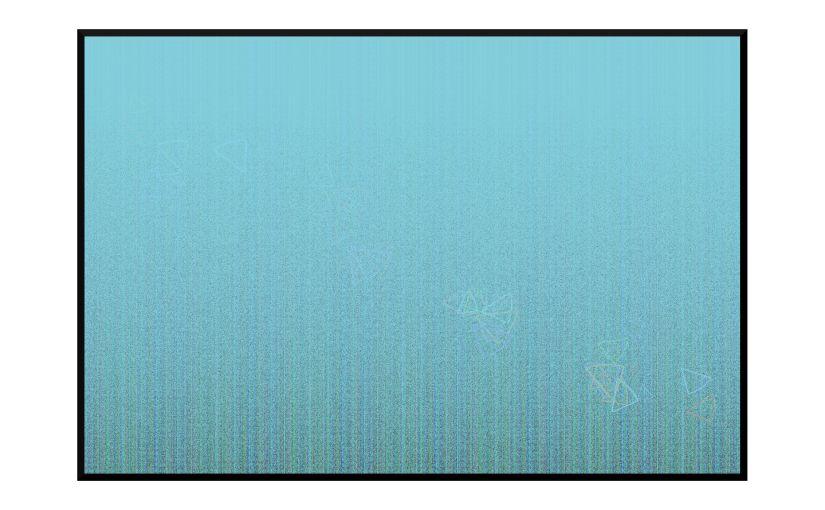 Illustration: fog obscuring grassy scene