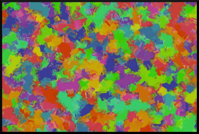 Abstract Illustration: splotch design of rainbow colors