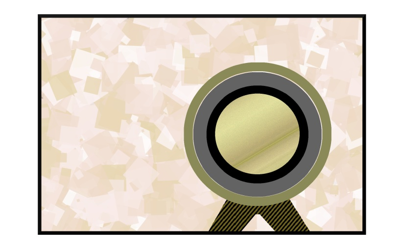 Illustration: telescope in front of a paper screen