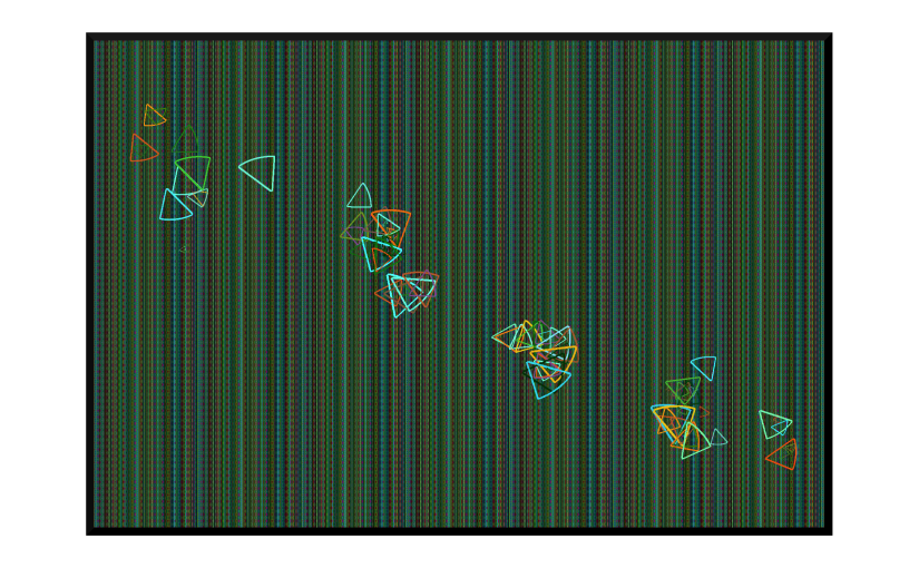 Illustration: abstract image of butterfly movement through grass